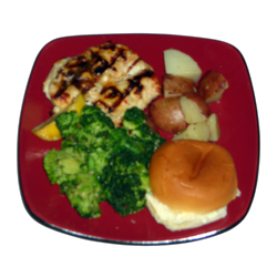 Chicken dinner prepared by Joanie's Catering of Hutchinson, MN 55350